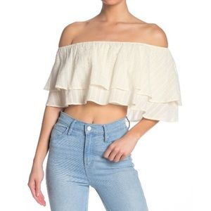 NWT Show Me Your MuMu Hayworth Ruffle Top Large